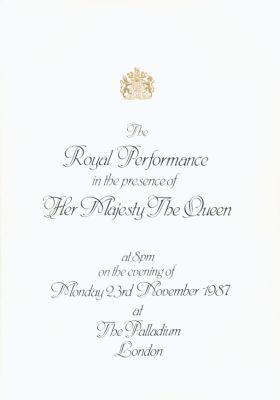 Royal Variety Performance Programme