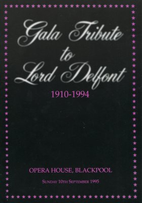 Gala Tribute to Lord Delfont programme