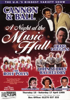 Night at the music hall flyer