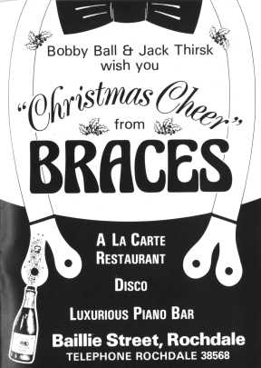 Braces Nightclub flyer