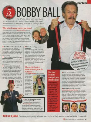 Celebs magazine article