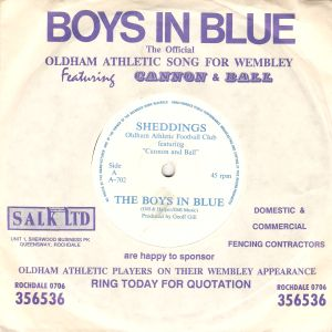 The Boys in Blue - Oldham Athletic cover