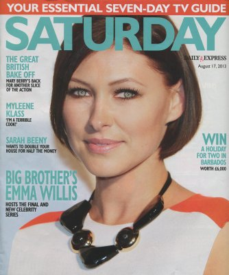 Saturday magazine cover