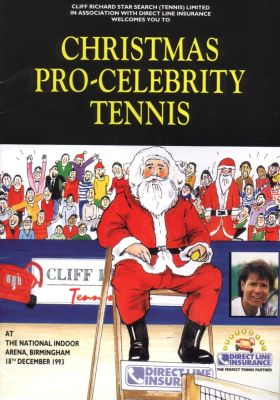 Pro-celebrity tennis brochure