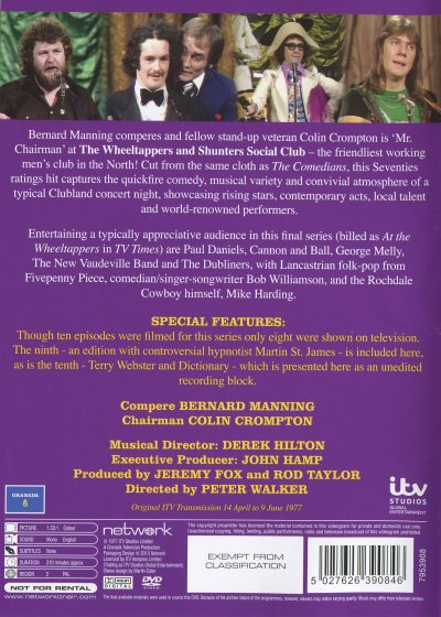 Wheeltappers DVD back